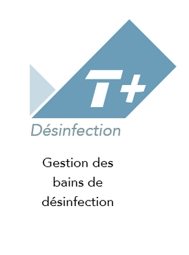 Logo application de traçabilité T+ Désinfection