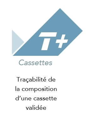 Logo application de traçabilité de composition de cassette T+ Cassettes